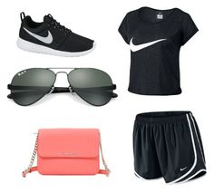 """Untitled #41"" by gracie-mccollough on Polyvore featuring NIKE, Ray-Ban and MICHAEL Michael Kors"