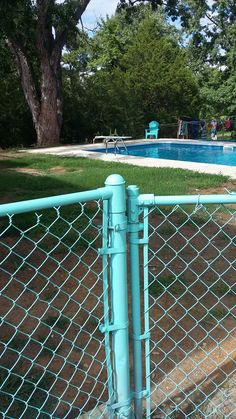 painted our old chain fence