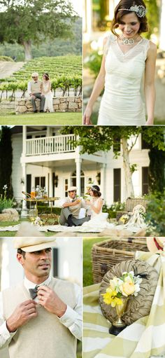 Great Gatsby-Inspired Shoot by Mark Padgett Wedding Design, Panacea Event Floral Design + Mike Larson – Style Me Pretty