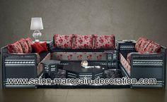 Salon marocain confortable et pas cher