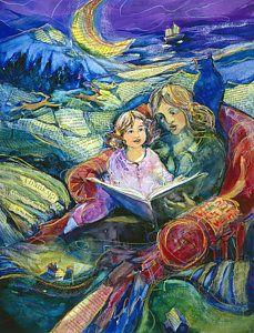 Reading Painting - Magical Storybook by Jen Norton Repinned by Ellery Adams www.elleryadamsmysteries.com