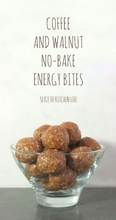 Coffee and Walnut No-Bake Energy Bites - These delicious fudgy bites are packed with oats, seeds, and nut butter to make a perfect healthy dessert or snack.
