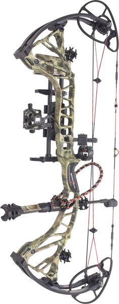 Side view of the Bowtech RPM 360 Hunter fully-outfitted with accessories.