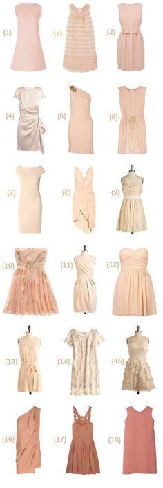 work.to.shop.: blush bridesmaids dresses