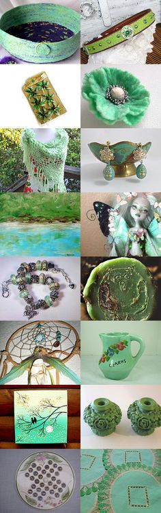 Green September! by ROSE on Etsy- #Etsy #treasury #jade #green #basket #bowl #cat #bed #mint #emerald #green #dog #bed #pet #bed #magazine #raco #storage #organizer -Pinned with TreasuryPin.com
