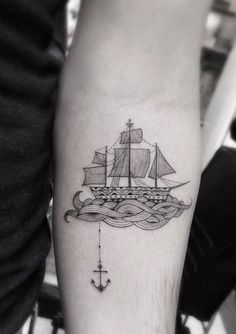 anchor and ship tattoo