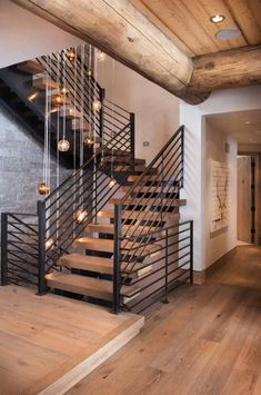 Contemporary reinterpretation of the traditional chalet: ski house - best house decoration - Contemporary-Landhaus-Haus-Reed Design Kindesign - Chalet Design, Modern Staircase, Staircase Design, Steel Stairs Design, Modern Interior Design, Interior Design Living Room, Rustic Contemporary, Contemporary Houses, House Stairs