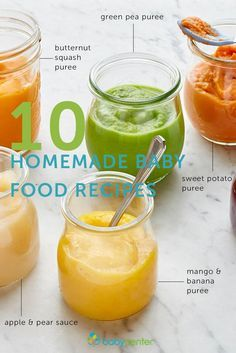 Great ideas for easy homemade baby food recipes and purees you can make yourself.