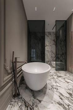 Contemporary Apartment, Bathroom Design Luxury, Apartment Interior Design, Bathroom Inspiration, Design Inspiration, Interiores Design, Master Bathroom, Interior Architecture, House Design