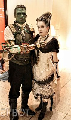 STEAMPUNK FRANKENSTEIN MONSTER & HIS BRIDE, you guys.  Look at them! Look how perfect! - See more at: http://www.epbot.com/2014/09/the-best-cosplay-of-dragon-con-2014-pt-1.html#sthash.ZXV7jI0B.dpuf
