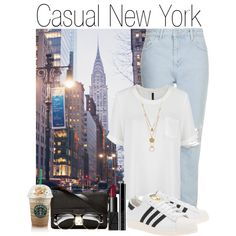 Casual New York by nzisa on Polyvore featuring Mode, MANGO, Topshop, adidas Originals, 3.1 Phillip Lim, Maison Margiela, NARS Cosmetics and Giorgio Armani