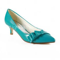 Leatherette Kitten Heel Pointy Toe Party/ Evening Shoes(More Colors)