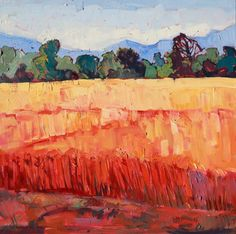 """Layers of Wheat"" original oil painting by Erin Hanson"