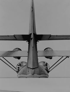 """View from the tail of a flying boat """"Catalina"""".  I love these lumbering grande dames of the skies...there is nothing that sounds like a Catalina in full song"""