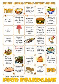 Food Boardgame | FREE ESL worksheets