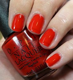 OPI California Dreaming Nail Polish Collection // Swatches + Review of the hottest nail polishes for Summer Opi Red Nail Polish, Opi Nail Envy, Nail Polishes, Manicures, Solid Color Nails, Nail Colors, Opi California Dreaming, Peeling Nails, Country Nails