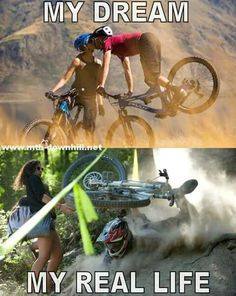 MTB Dating is the dating site for singles with a passion for mountain biking. Shred the mountain bike trails together; join now for free & start dating! Bike Meme, Bike Humor, Cycling Memes, Cycling Quotes, Downhill Bike, Mtb Bike, Bike Trails, Photo Velo, Mountain Biking Quotes