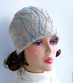 """Купить Шапка валяная """"Узоры на стекле"""" - валяная шапка, шапка валяная женская, шапка женская"""