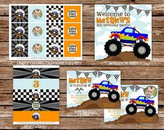 Printable Monster Truck Birthday Party by thepaperblossomshop