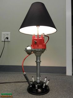 Man Cave Light Distributor Lamp, combined this with the air filter lampshade and your set. by maryann Car Part Furniture, Automotive Furniture, Automotive Decor, Furniture Plans, System Furniture, Furniture Chairs, Kids Furniture, Garden Furniture, Bedroom Furniture