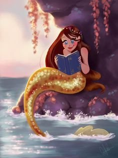 Reading Mermaid by DylanBonner on DeviantArt