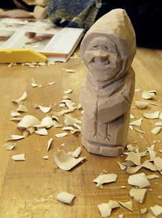 Scandinavian-style Figure Carving with Harley Refsal | Scandinavian Heritage Week at the John C. Campbell Folk School - folkschool.org