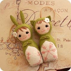 bamboline portafortuna alla  lavanda