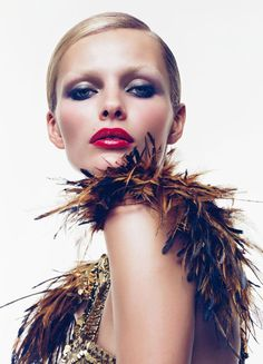 Edita Vilkeviciute by Sølve Sundsbø for Vogue China Collections March 2011 ~ETS #boa