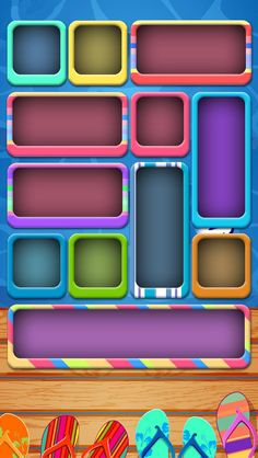iPhone 5 wallpaper colorful icon boxes with flip flops