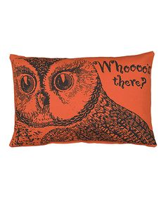 'Whoooo's There?' Décor Pillow