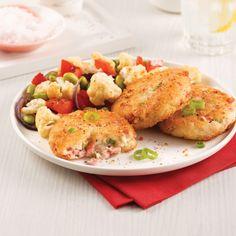 Croquettes of ham and potatoes - 5 ingredients 15 minutes - easyrec Salad Dressing Recipes, Salad Recipes, Potato Recipes, Pork Recipes, Potato Croquettes, Great Recipes, Favorite Recipes, Confort Food, 15 Minute Meals
