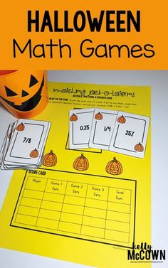 My students love this! Integers, Ratios, Rates, Rational Numbers, and Hocus Pocus. Grades 8 math Halloween games and activities. Middle School Math students love playing games and fun activities for Halloween! Math Games, Math Activities, Fun Math, Math 2, Holiday Activities, Math Night, Halloween Math, Math Centers, Math Stations