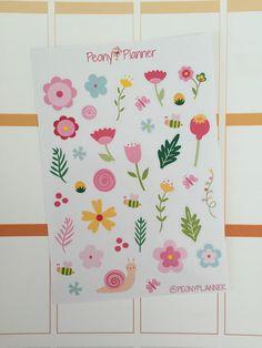 Spring Bloom Planner Stickers | Erin Condren, Kikki K, InkWell, Plum Planner, Scrapbook by PeonyPlanner on Etsy