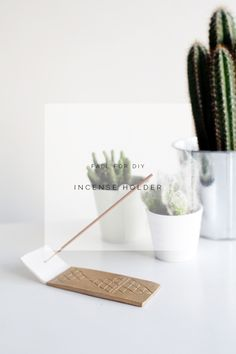 Add this sleek little incense burner to your home. Follow this lovely tutorial to get your home smelling lovely!