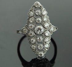 a7e57c4d5c133f Antique Diamond RIng Platinum with 21 European by SITFineJewelry Antique  Diamond Rings, Vintage Diamond,