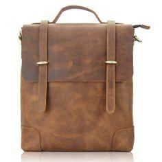 SALE / Handtailor Individual leisure Coffee Oil Cowhide Leather Briefcase. Backpack.  Messenger Bag. Computer Bag. Mens bag-3251 on Etsy, $89.99