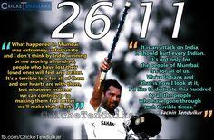 Tribute to 26/11 victims ! Every True Indian must SHARE Sachin Tendulkar dedicates Chennai win to Mumbai terror 26/11 victims.
