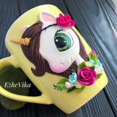 """EzheVika"" - декор из полимерной глины. Polymer Clay Projects, Diy Clay, Polymer Clay Jewelry, Clay Jar, Clay Mugs, Fancy Jewellery, Christmas Gifts For Girls, Clay Ornaments, Clay Figures"