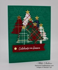 Wrapped in Plaid Suite from Stampin' Up! Itty Bitty Christmas Plaid Trees Card – Stampin' in the Meadows Wrapped in Plaid Suite from Stampin' Up! Itty Bitty Christmas Plaid Trees Card – Stampin' in the Meadows Christmas Card Crafts, Homemade Christmas Cards, Stampin Up Christmas, Christmas Cards To Make, Plaid Christmas, Homemade Cards, Holiday Cards, Christmas Trees, Stampinup Christmas Cards