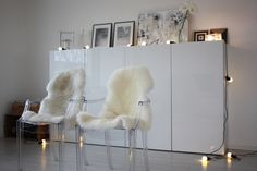homevialaura ghost chairs and fur