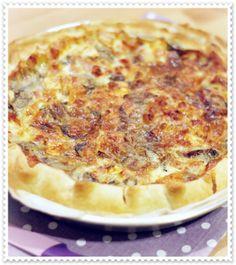 Torta salata con radicchio, pancetta e brie