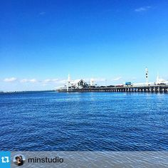 With all the hustle and bustle of the festive season this really is a very calming view!  #thepiergeelong #cunningham #pier #geelongwaterfront #historical #lovewhereyouwork by thepiergeelong http://ift.tt/1JtS0vo