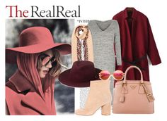 """""""Fall Style With The RealReal: Contest Entry"""" by biljanadelic on Polyvore featuring River Island, Prada, Burberry, Whistles, Maison Margiela and Wildfox"""