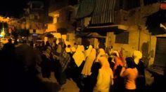 #الرمل ثوار الرمل يخرجون بمسيرة من شارع صلاح الدين