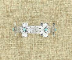 Women's Antiqued Silver Turquoise Cross Fashion Bracelet #WesternJewelry #WesternAccessories #WesternFashion #WesternStyle #CowgirlChic #WesternChic