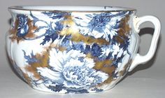 Chamber Pot by Booths 1920s Bedroom, Pots, Old Pottery, Antique China, Delft, Bone China, Foot Baths, Blues, Porcelain
