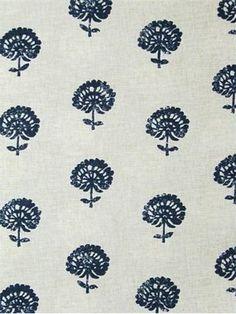 Hand+Flora+Indigo by Robert Allen, 100,000 rubs for upholstery