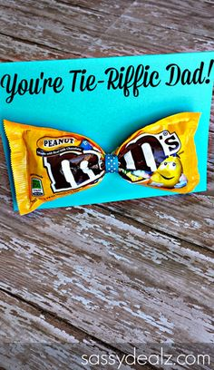 M&M Bow Tie Father's Day Card Idea - Crafty Morning