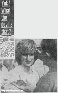 March 21, 1983: Princess Diana declining the offer to hold one of the local reptiles at Ayers Rock in Yulara, the Northern Territory in Australia.