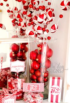 peppermintsprigs Christmas party decor